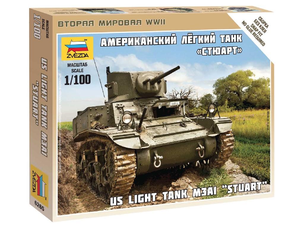 1/100 Wargames (WWII) tank 6265 - Stuart US-Tank