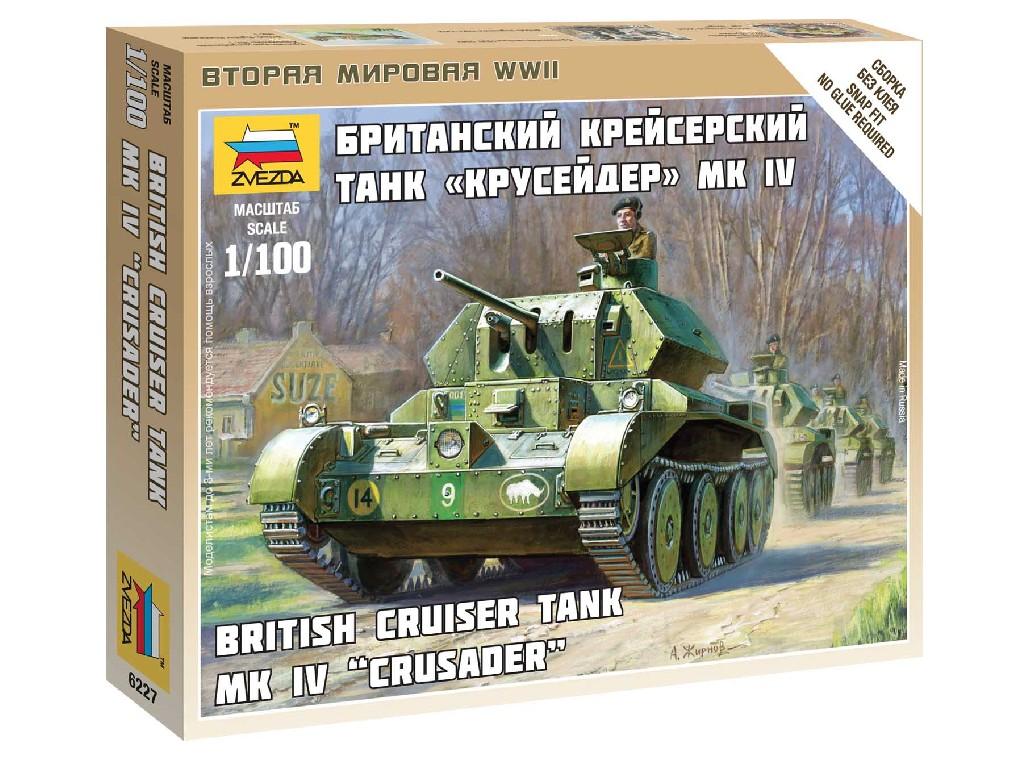 1/100 Wargames (WWII) tank Z6227 - British Tank MK IV Cruiser