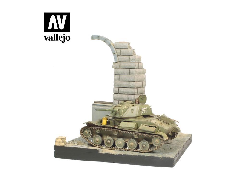 Vallejo - Scenics SC003 Zničená německá budova 15.5x15.5cm 1/35