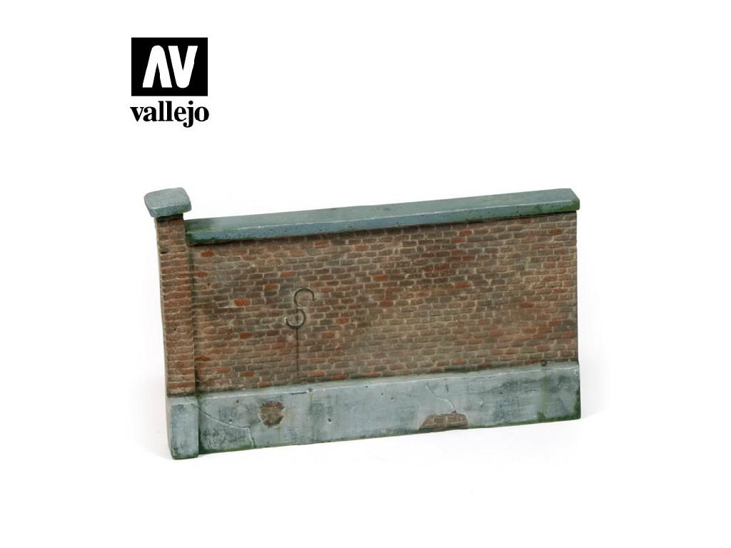 Vallejo - Scenics SC005 Stará cihlová zeď 15x10cm 1/35