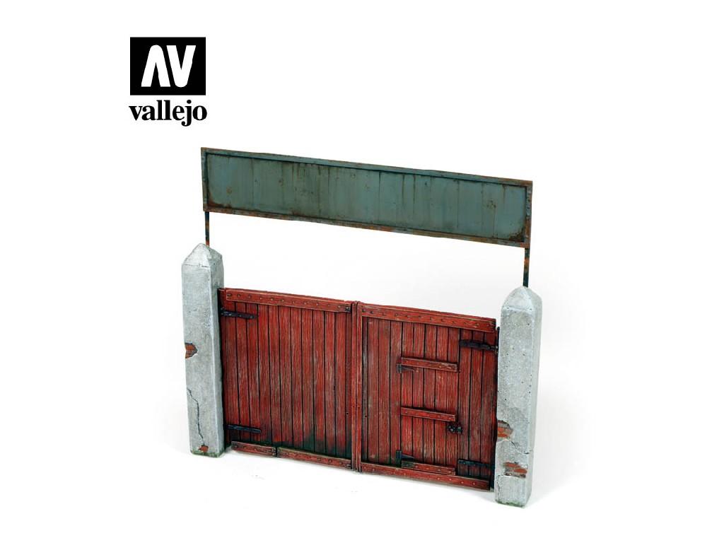 Vallejo - Scenics SC006 Vesnická brána 15x15cm 1/35