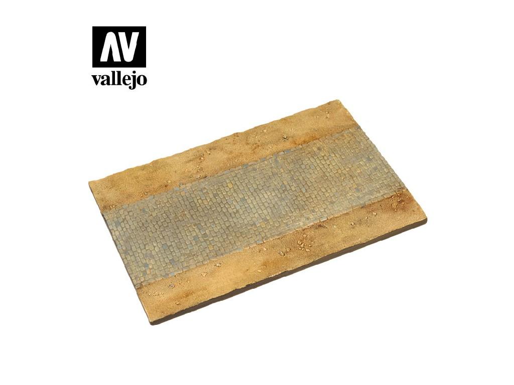 Vallejo - Scenics SC105 Dlážděná cesta 25x17cm 1/35