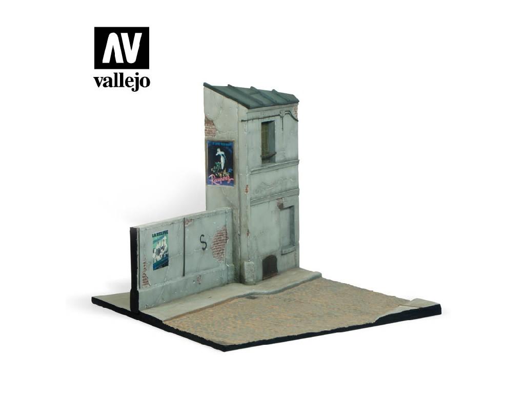 Vallejo - Scenics SC108 Ulice ve Francii 24x23x21 1/35