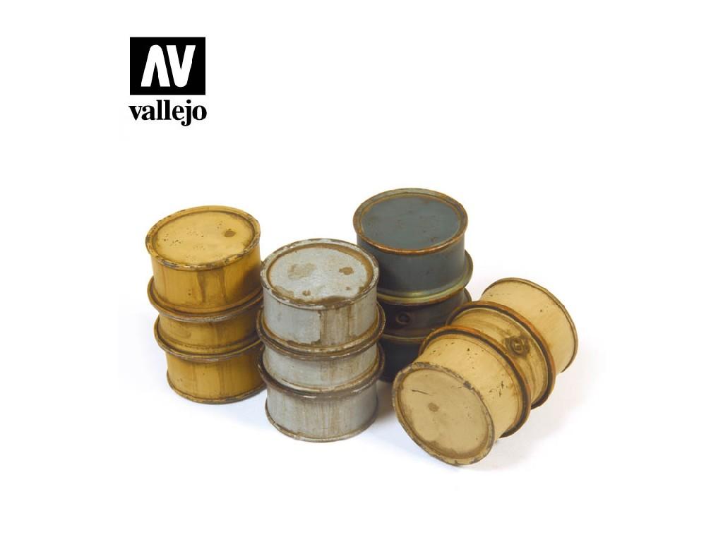 Vallejo - Scenics SC201 Německé sudy na palivo 1 1/35