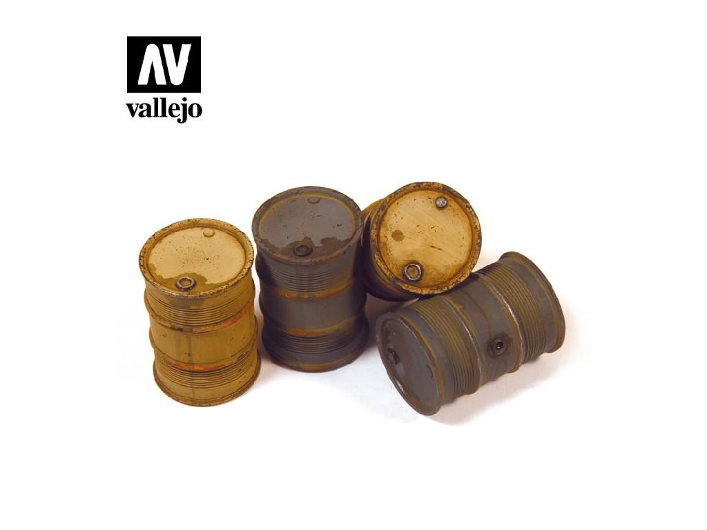 Vallejo - Scenics SC202 Německé sudy na palivo 2 1/35