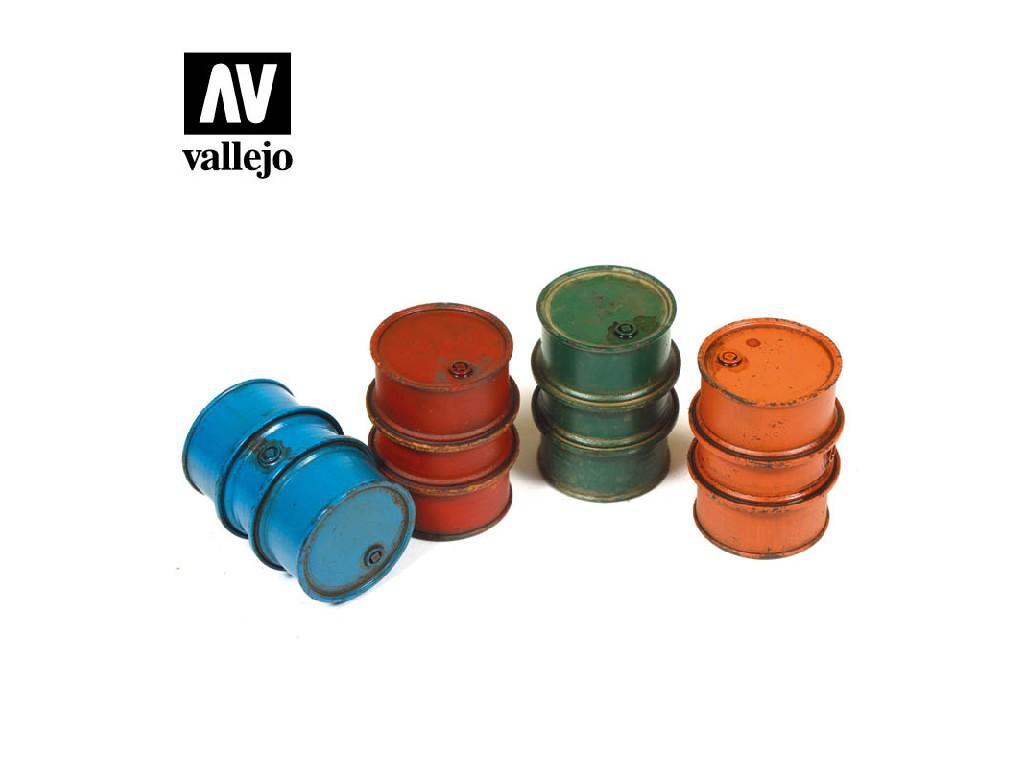 Vallejo - Scenics SC203 Civilní sudy na palivo 1/35