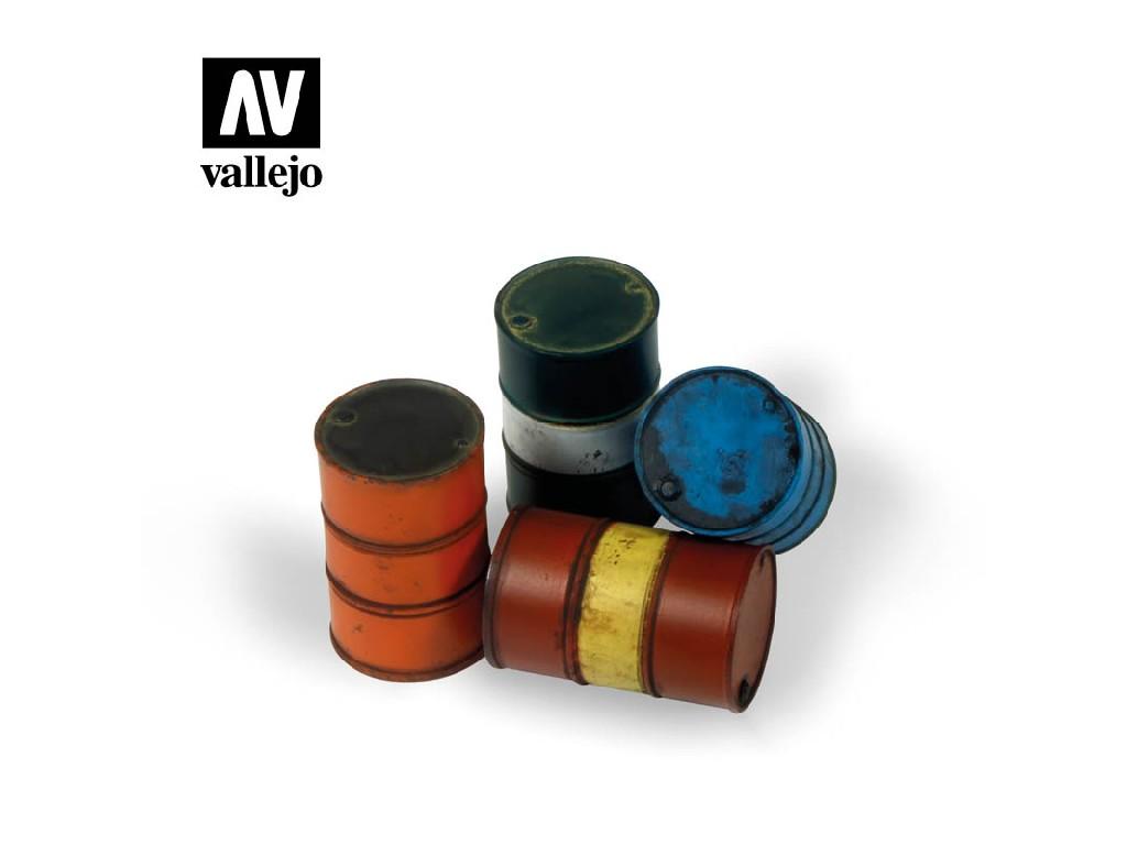 Vallejo - Scenics SC204 Moderní sudy na palivo 1/35