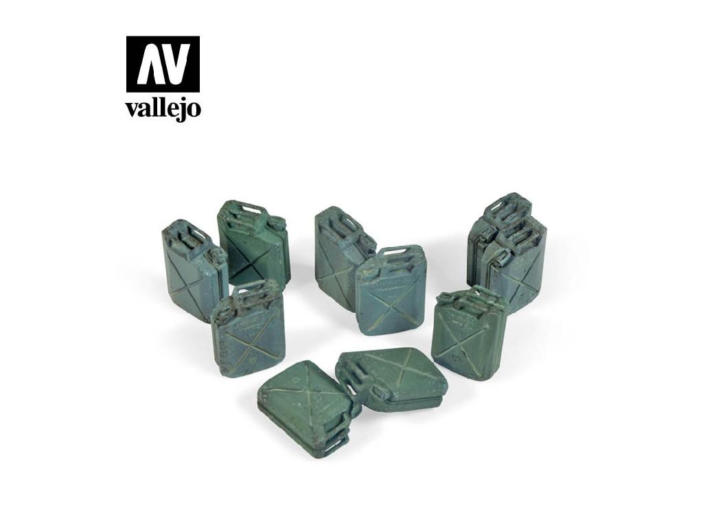 Vallejo - Scenics SC206 Kanystry na palivo - spojenci 1/35