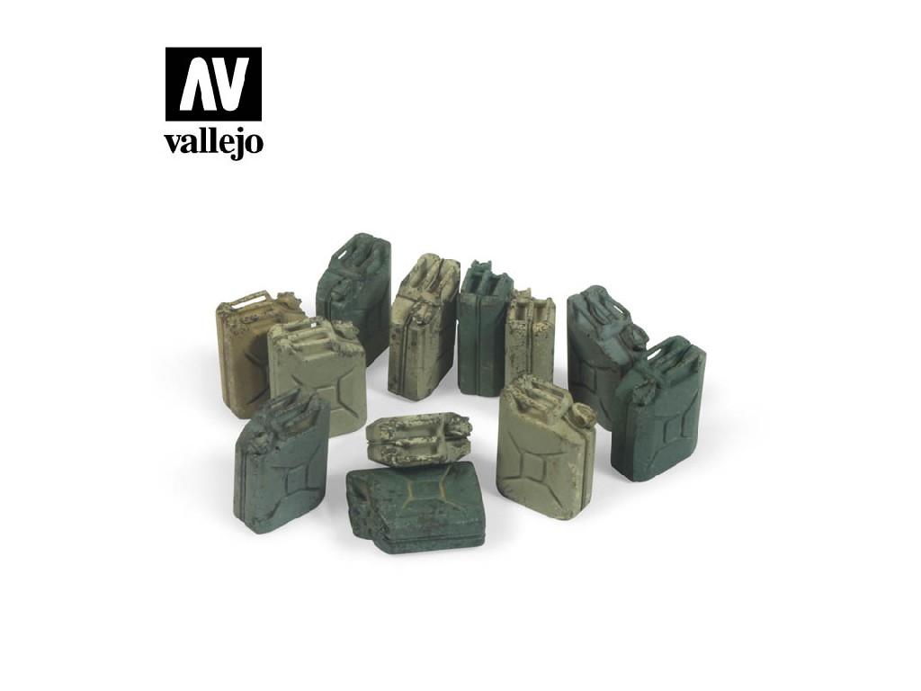 Vallejo - Scenics SC207 Kanystry na palivo - Německo 1/35