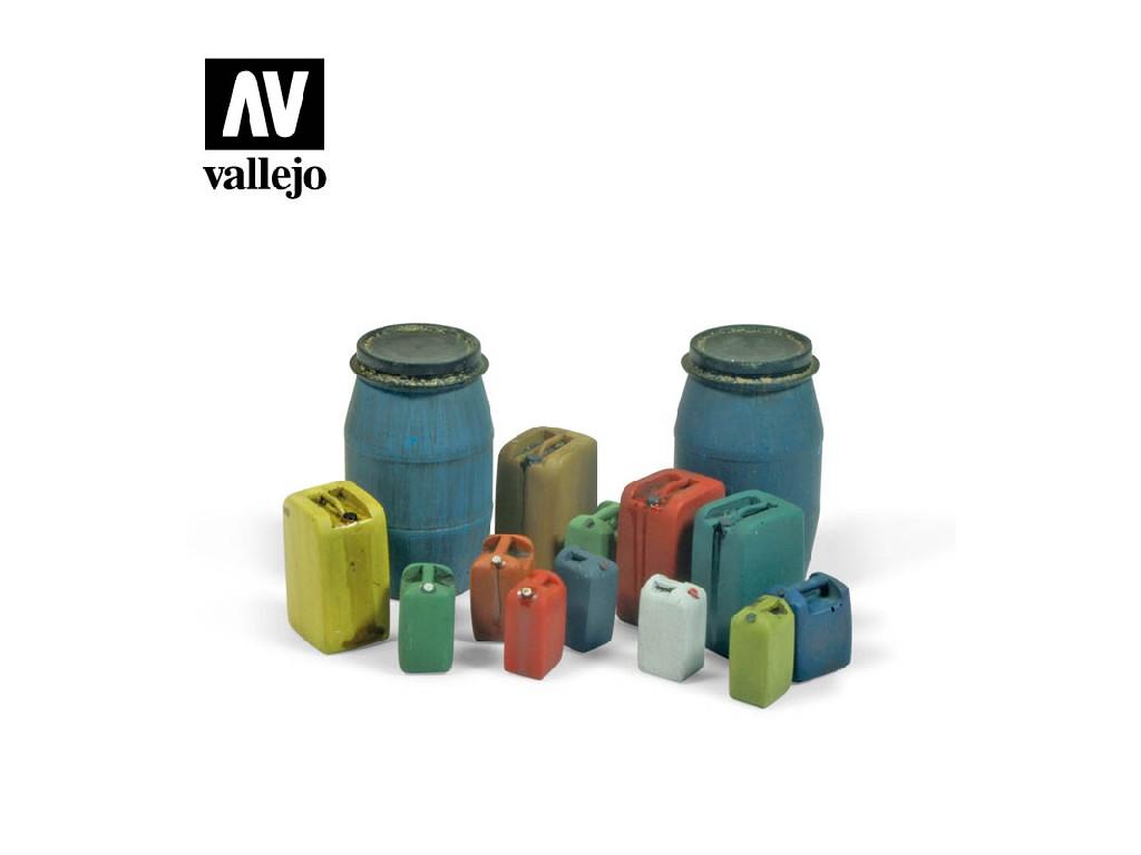 Vallejo - Scenics SC211 Sada moderních plastových barelů 2 1/35