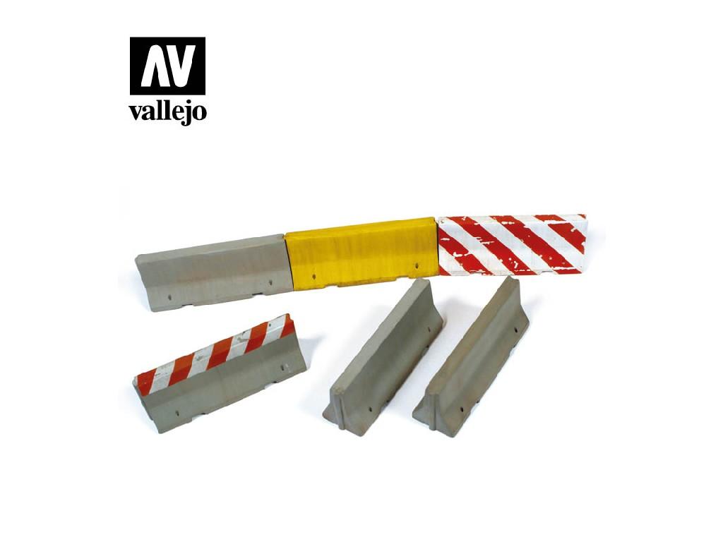 Vallejo - Scenics SC214 Betonové bariéry 1/35