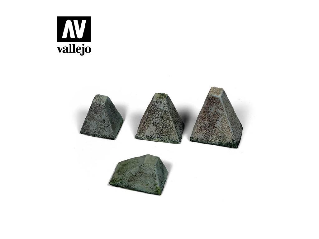 Vallejo - Scenics SC218 Protitankové bariéry, typ 38 1/35