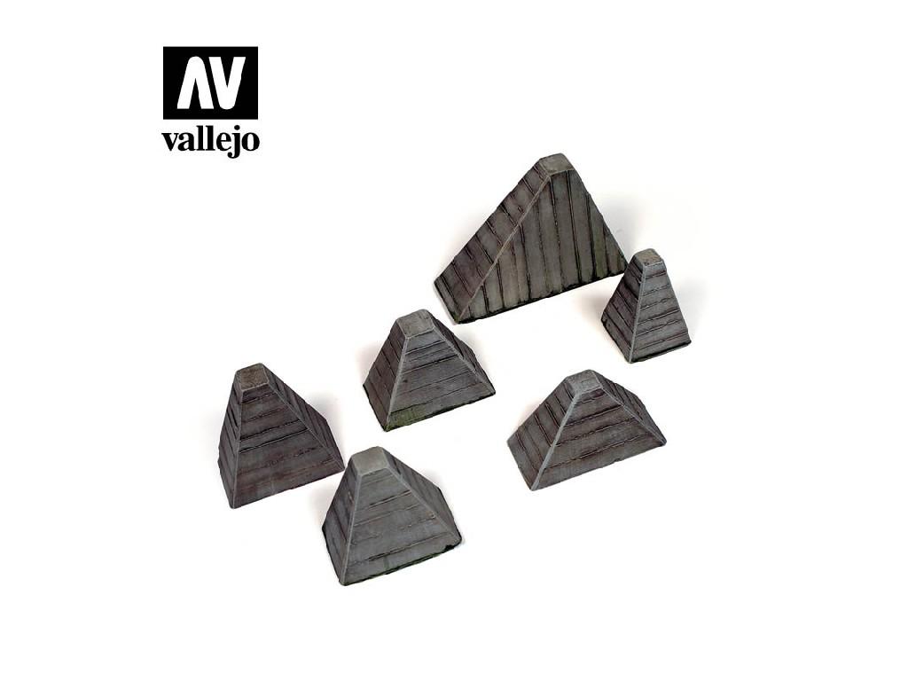 Vallejo - Scenics SC219 Protitankové bariéry 1/35