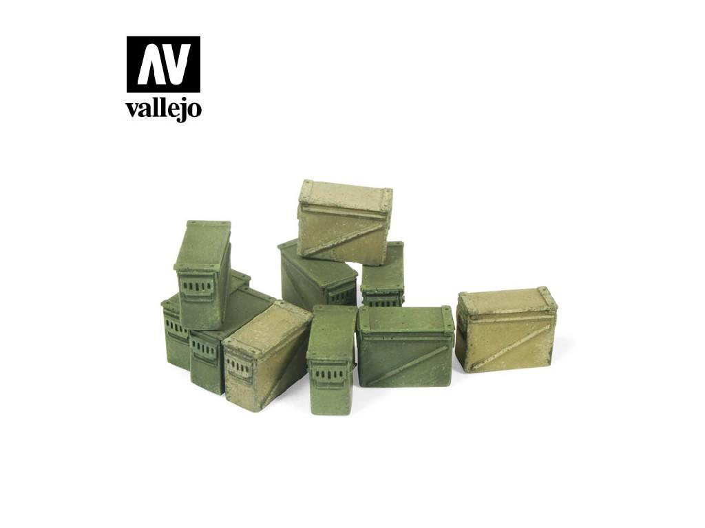Vallejo - Scenics SC221 Velké muniční boxy 12,7 mm. 1/35