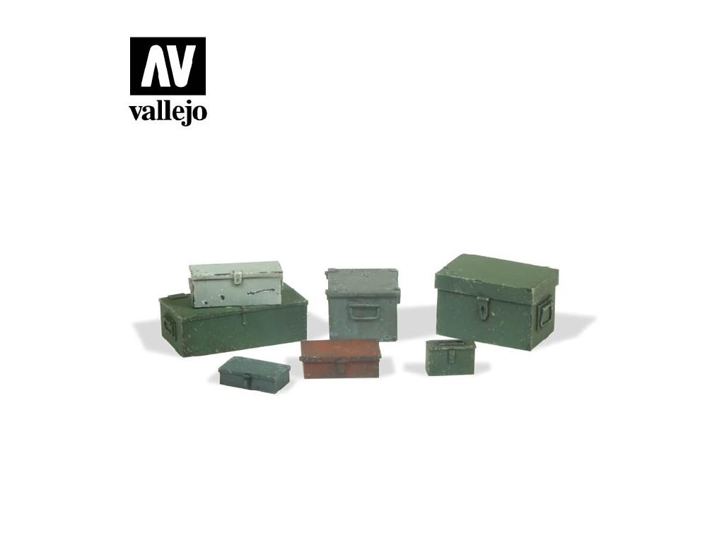 Vallejo - Scenics SC223 Univerzální kovové boxy 1/35