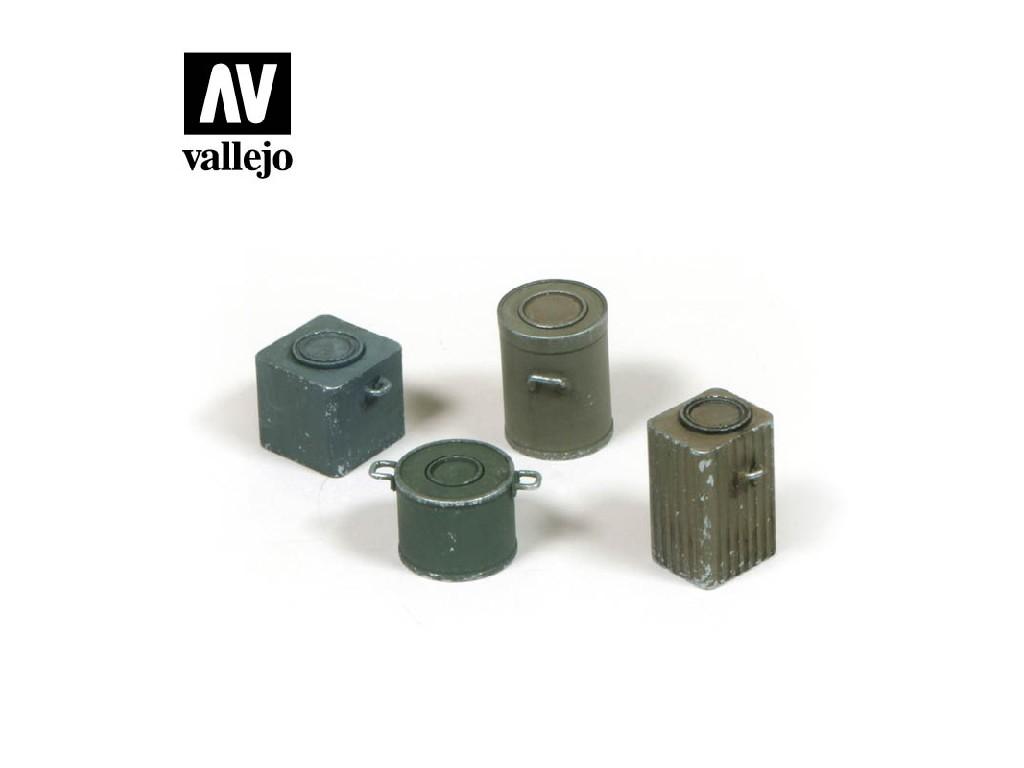 Vallejo - Scenics SC224 WWII Německé várnice a nádoby na jídlo 1/35
