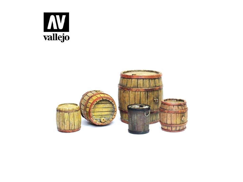 Vallejo - Scenics SC225 Dřevěné sudy 1/35