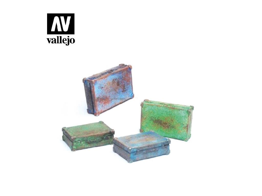Vallejo - Scenics SC226 Kovové kufry 1/35
