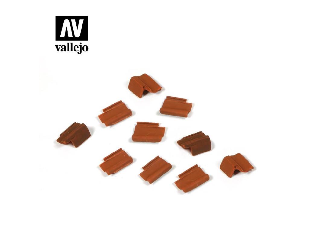 Vallejo - Scenics SC229 Sada střešních tašek 1/35