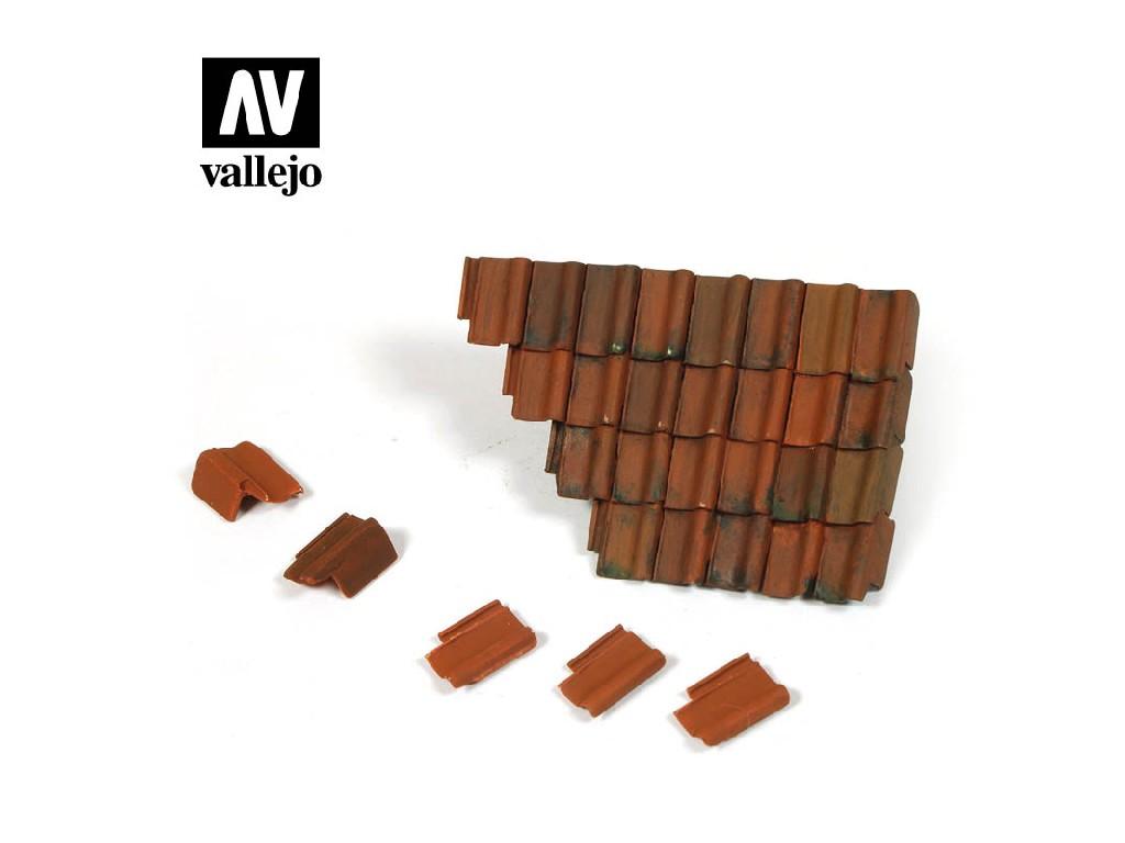 Vallejo - Scenics SC230 Poškozená část střechy a střešní tašky 1/35