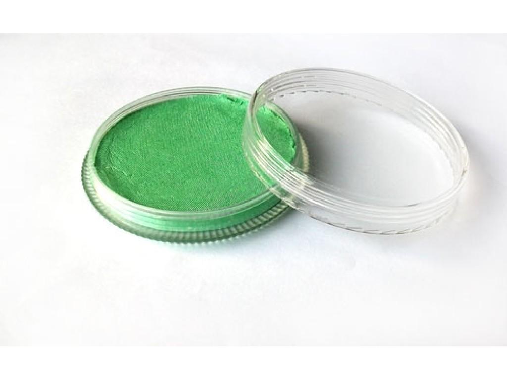 Perleťová barva na obličej 30ml light green