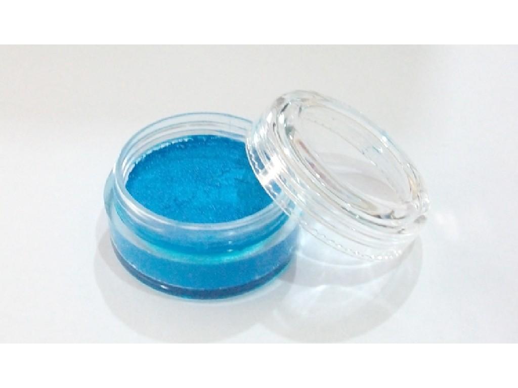 Perleťová barva na obličej 10ml bright blue