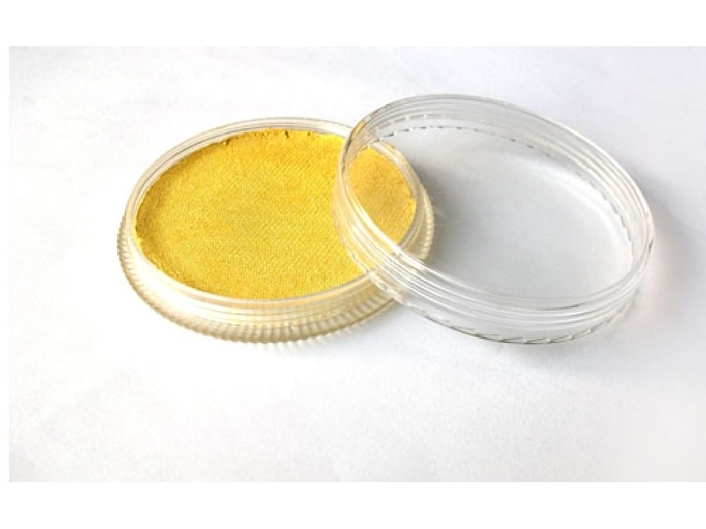 Perleťová barva na obličej 30ml yellow