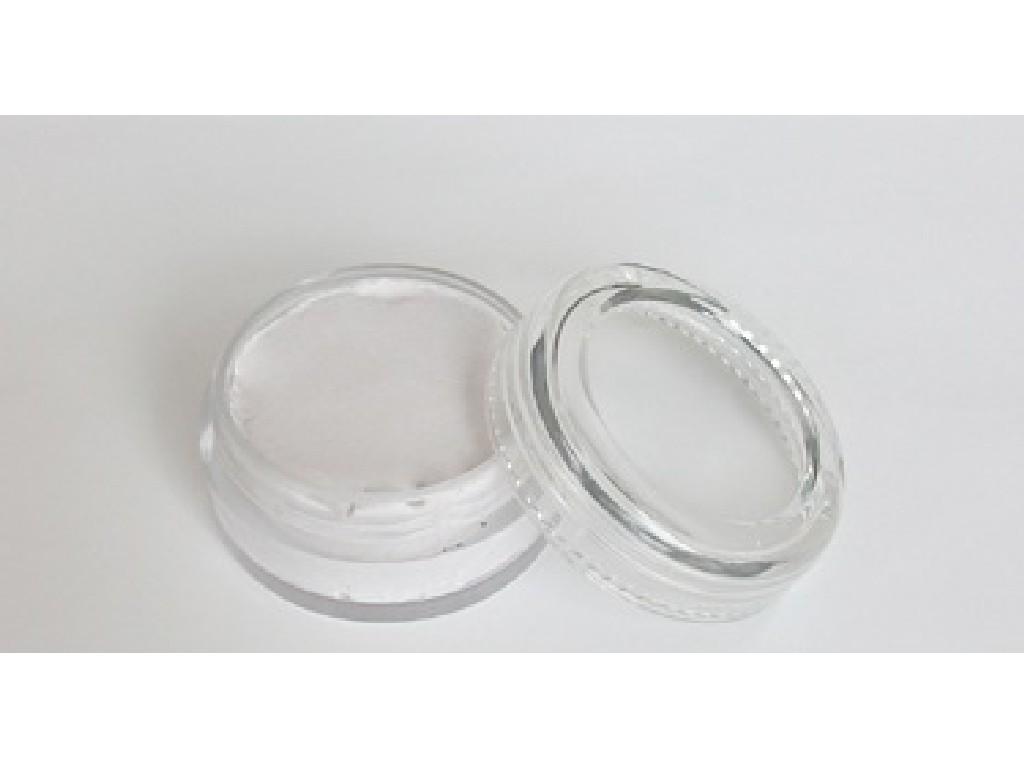 Perleťová barva na obličej 10ml silvery white