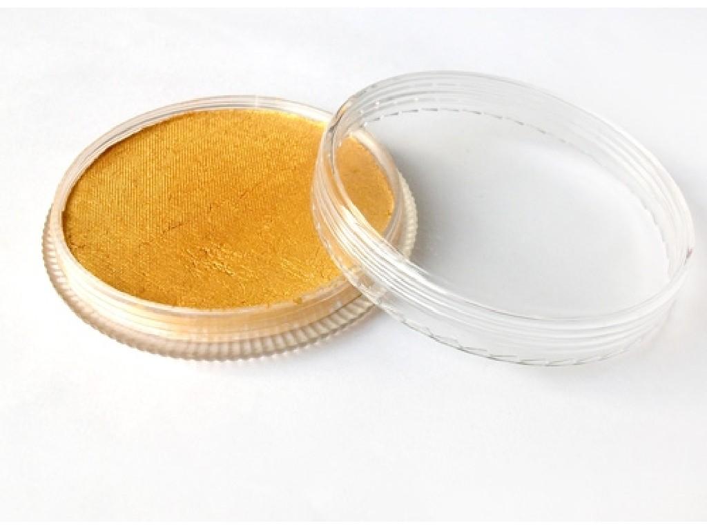 Perleťová barva na obličej 30ml golden