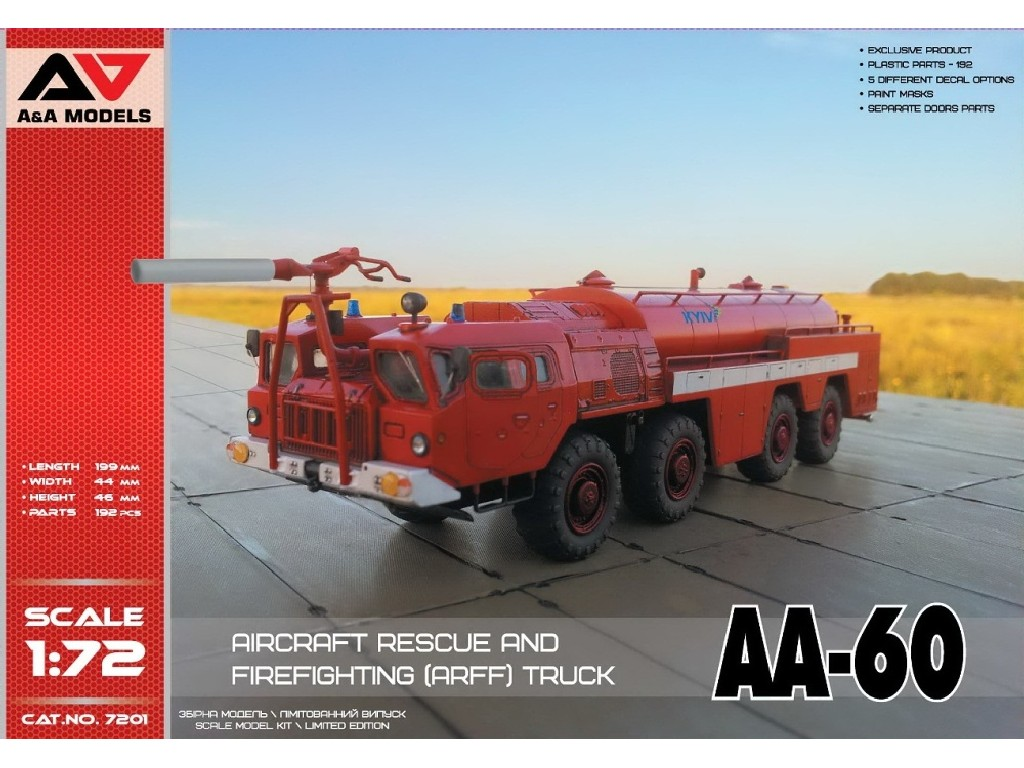 AA-60 Firefighting truck (5 decal versions)