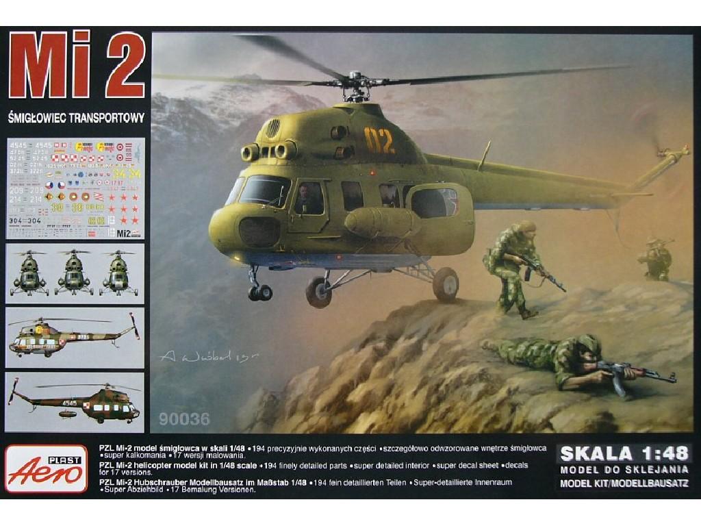 1/48 Plastikový model - Mi-2 Transport helicopter (17x camo)