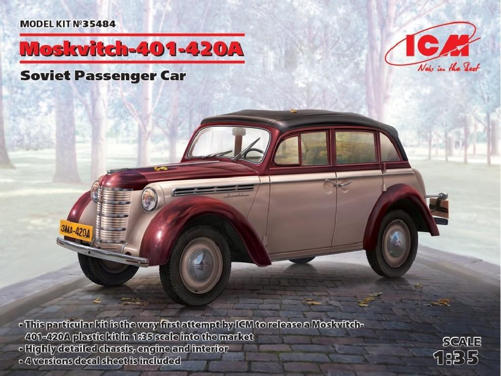 Moskvitch-401-420A Soviet Passenger Car