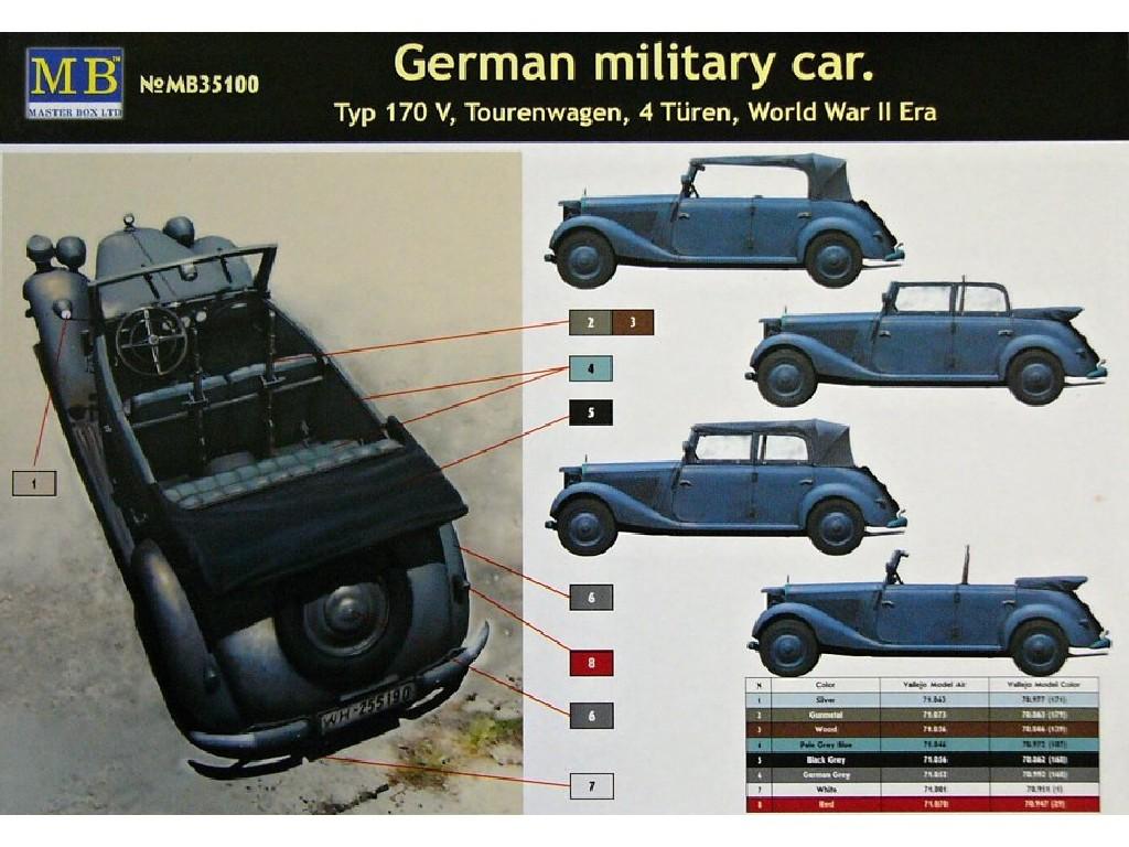 1/35 German military car Typ 170 V Tourenwagen