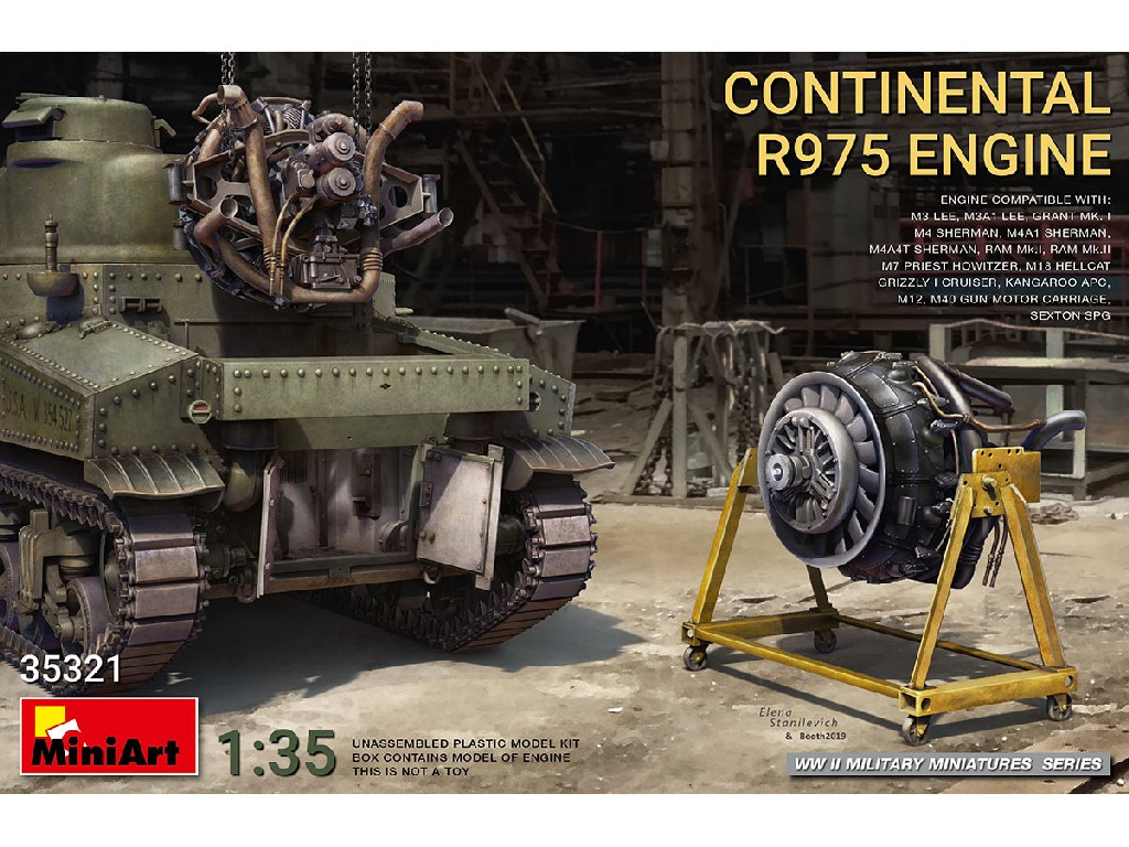 1/35 Continental R975 Engine