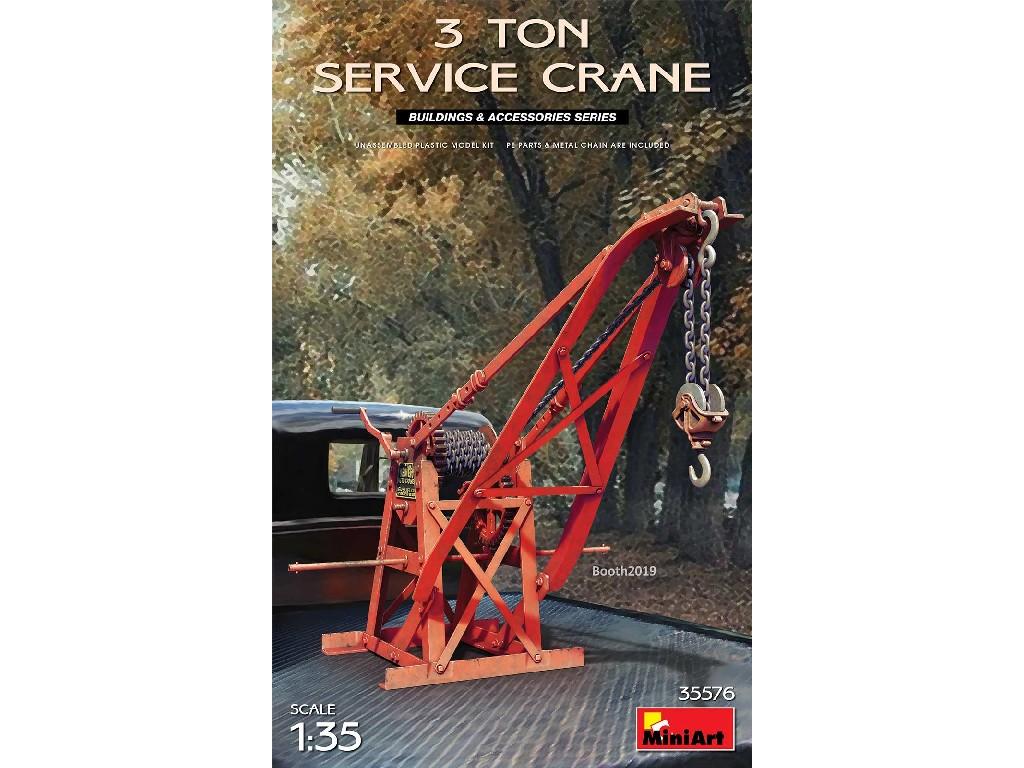 1/35 3-ton Service Crane (incl. PE & metal chain)
