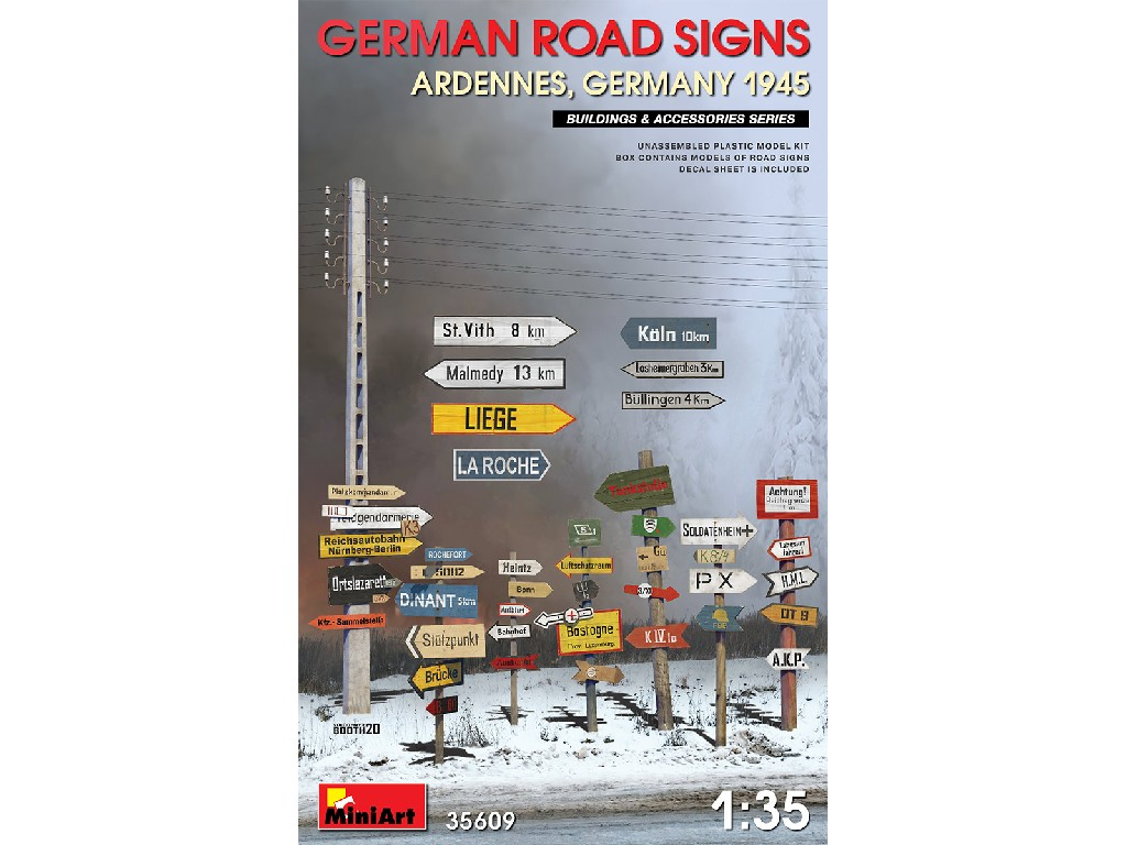 1/35 German Road Signs (Ardennes, Germany 1945)