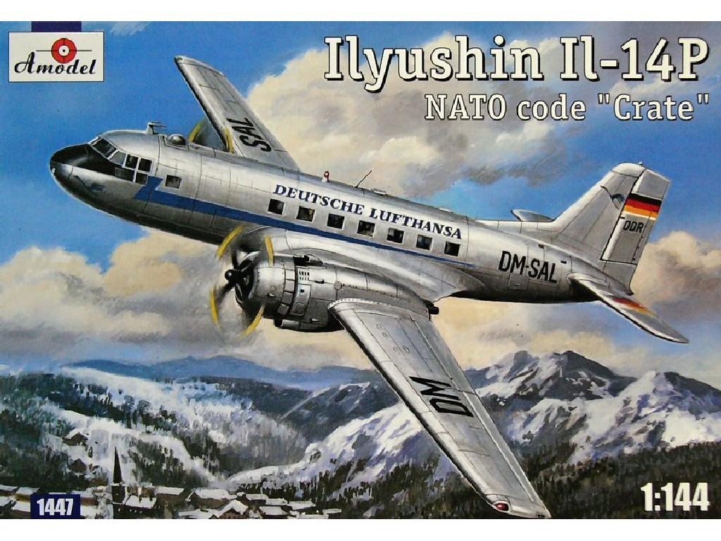 1/144 Plastikový model - Ilyushin IL-14P (Deutsche Lufthansa)