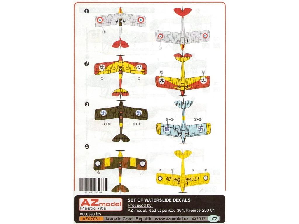 1/72 D.H.-82 Tiger Moth international 4x decal