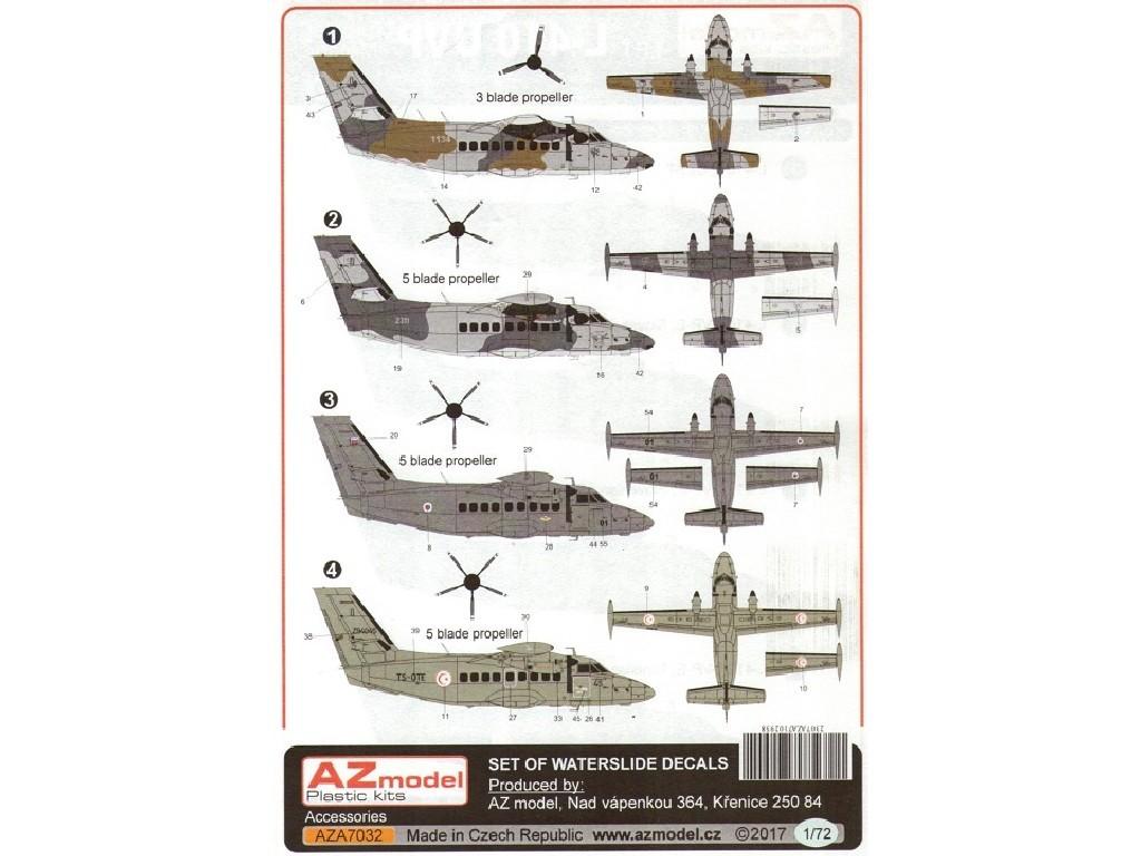 1/72 L-410UVP Turbolet military 4x decal