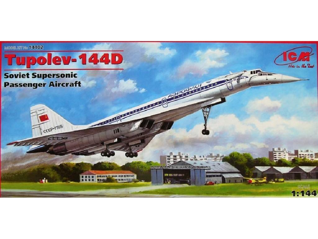 1/144 Plastikový model - Tupolev Tu-144D Soviet Supersonic Aircraft