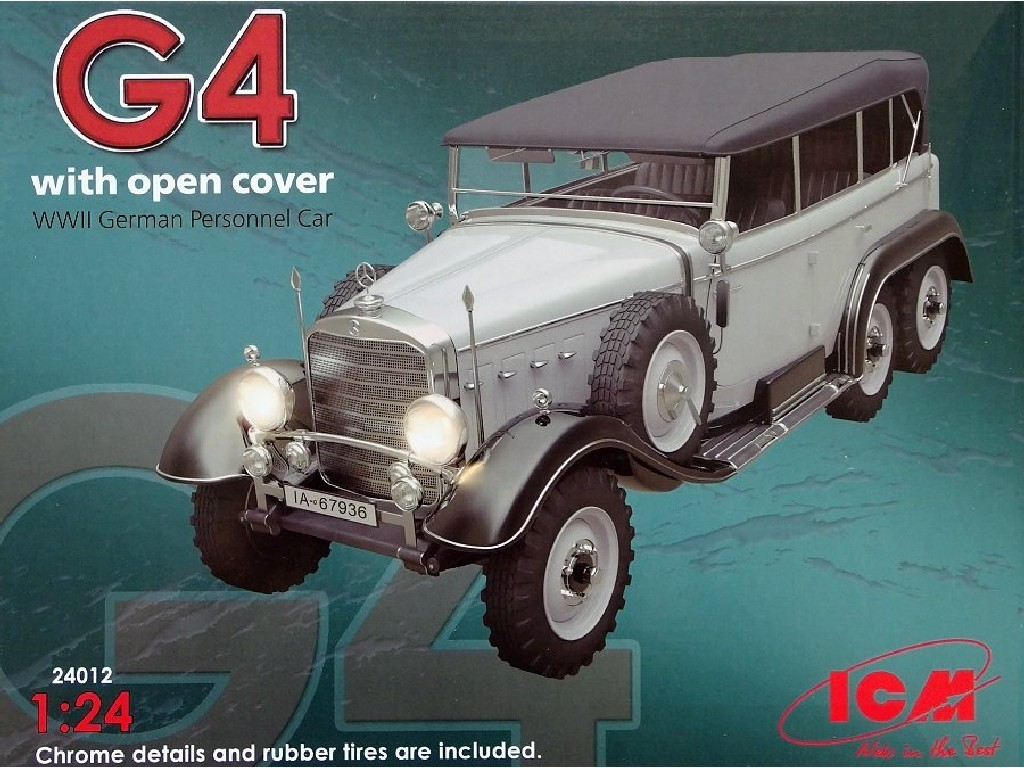 1/24 Plastikový model - G4 with open cover (German Personnel Car)
