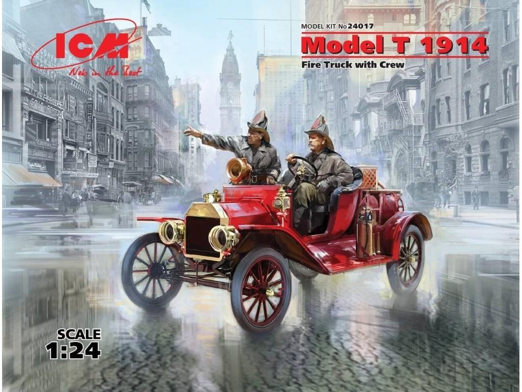 1/24 Plastikový model - Model T 1914 Fire Truck with Crew