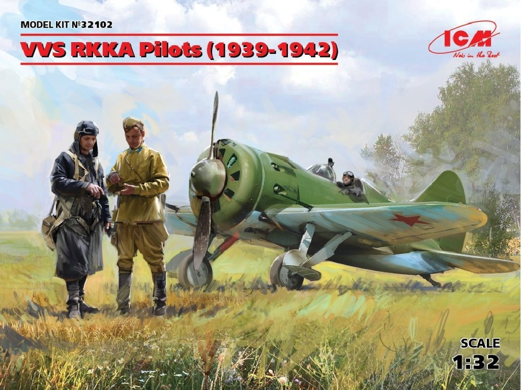 1/32 Plastikový model - VVS RKKA Pilots 1939-1942 (3 fig.)