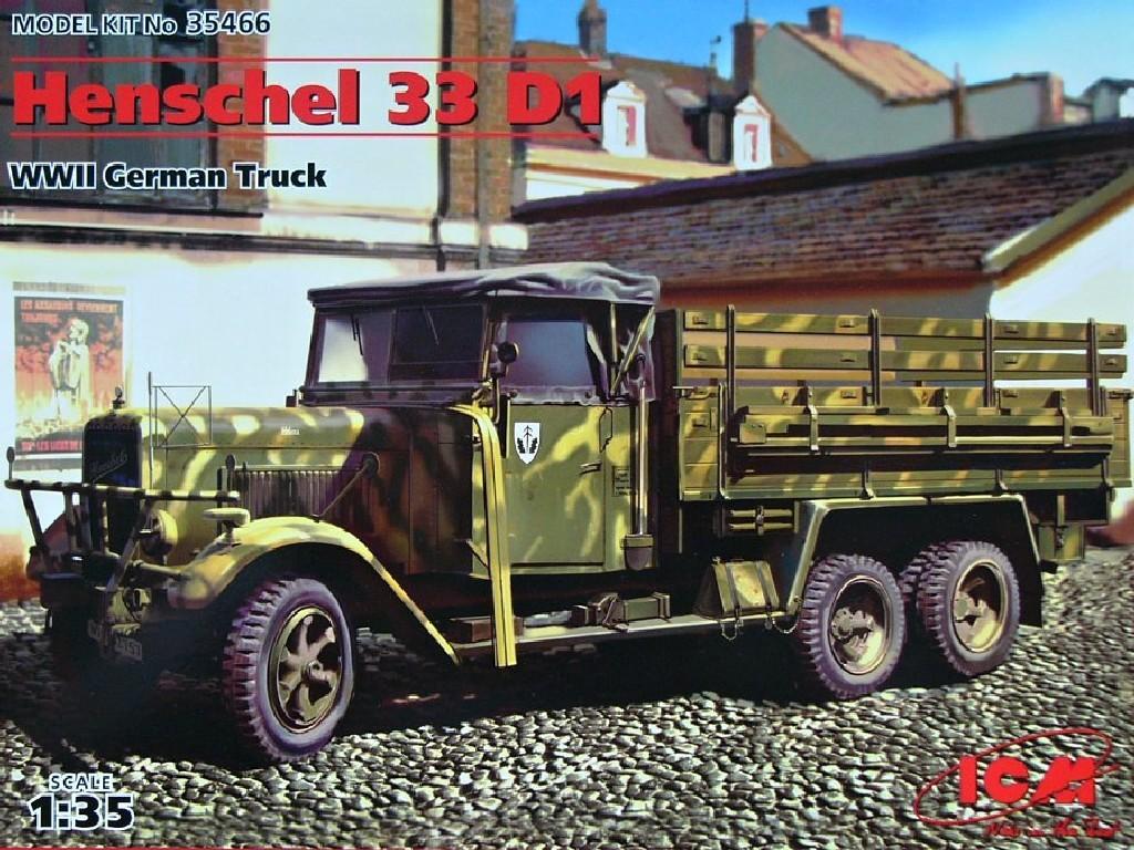 1/35 Plastikový model - Henschel 33D1 (German WWII Army Truck)