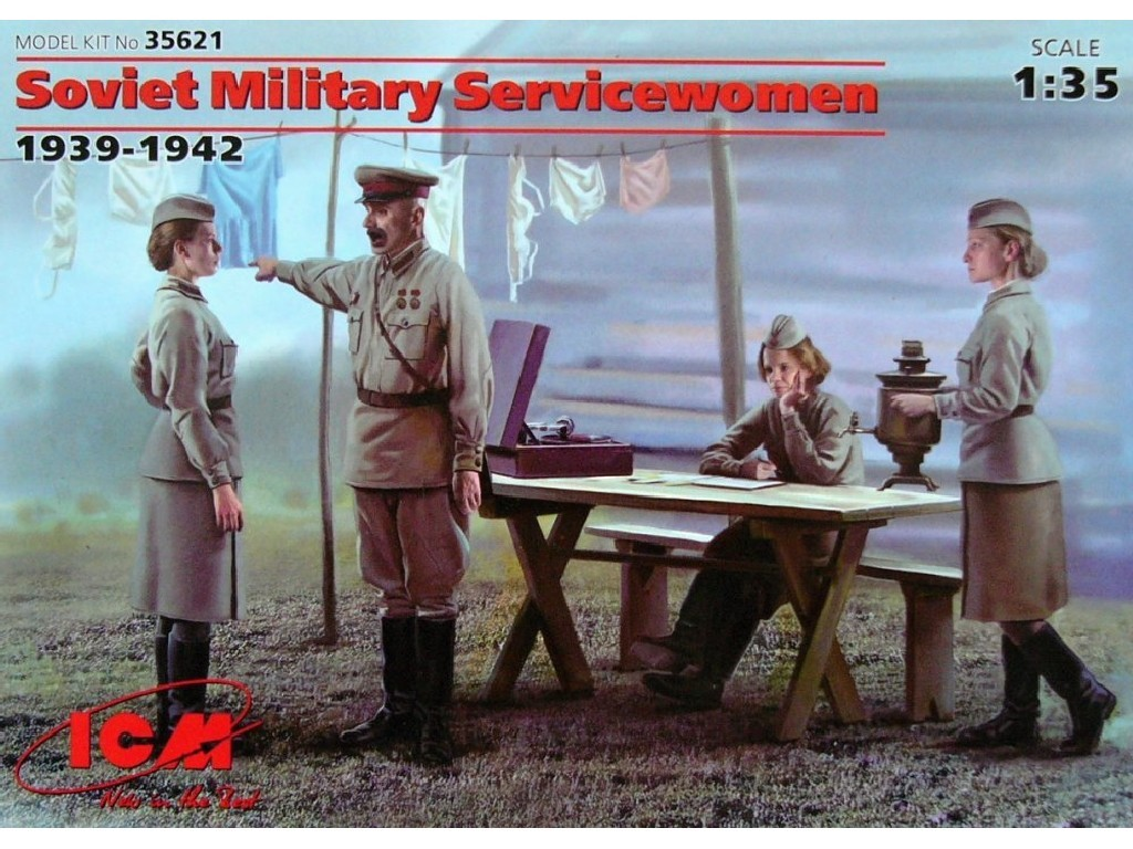 1/35 Plastikový model - Soviet Military Servicewomen (4 fig.)