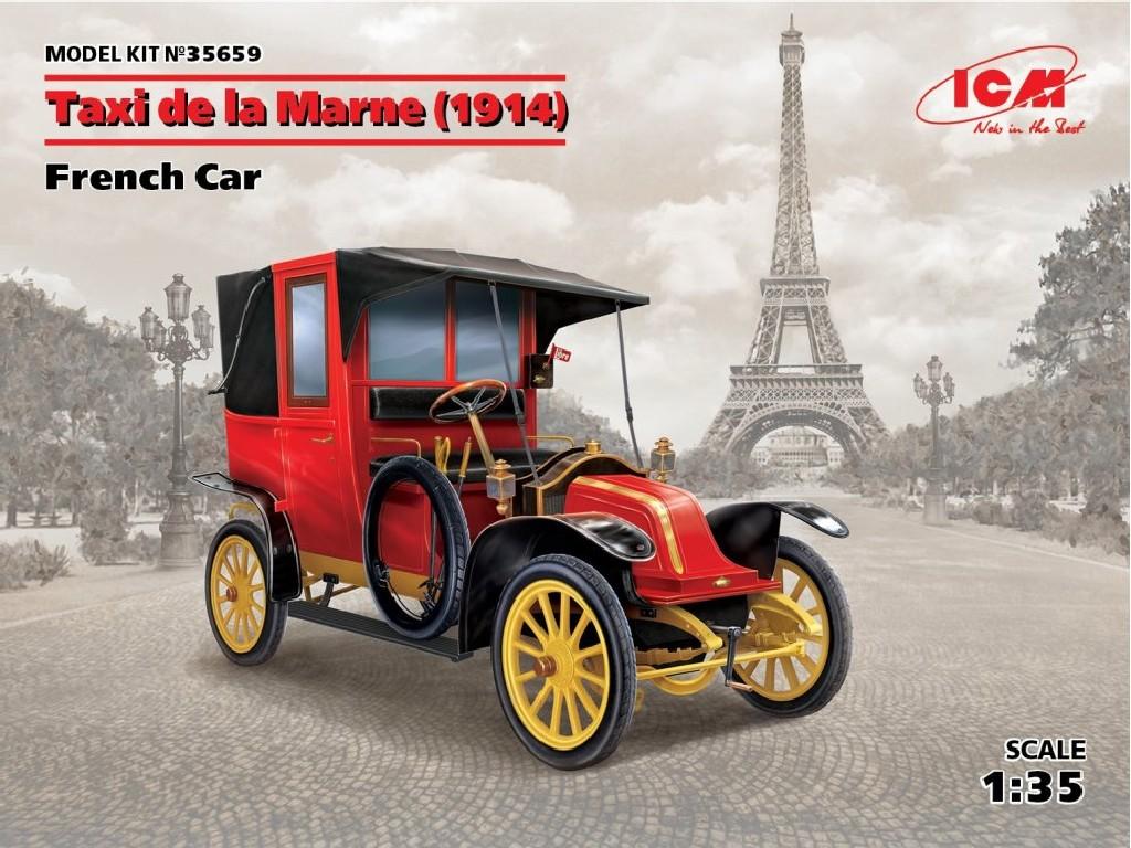 1/35 Plastikový model - Taxi de la Marne (1914), French Car