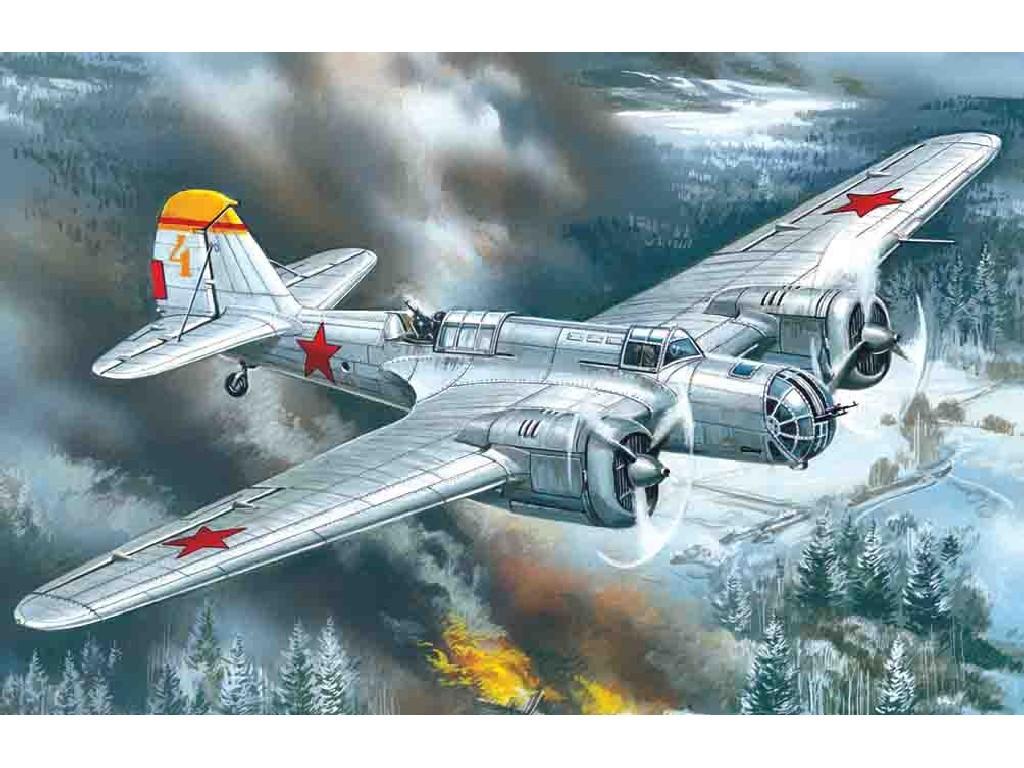 1/72 Plastikový model - SB 2M-100A WWII Soviet Bomber