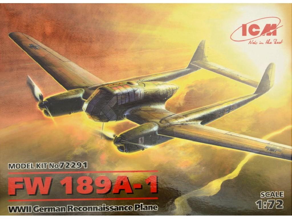 1/72 Plastikový model - FW 189A-1 German Reconnaissance Plane WWII