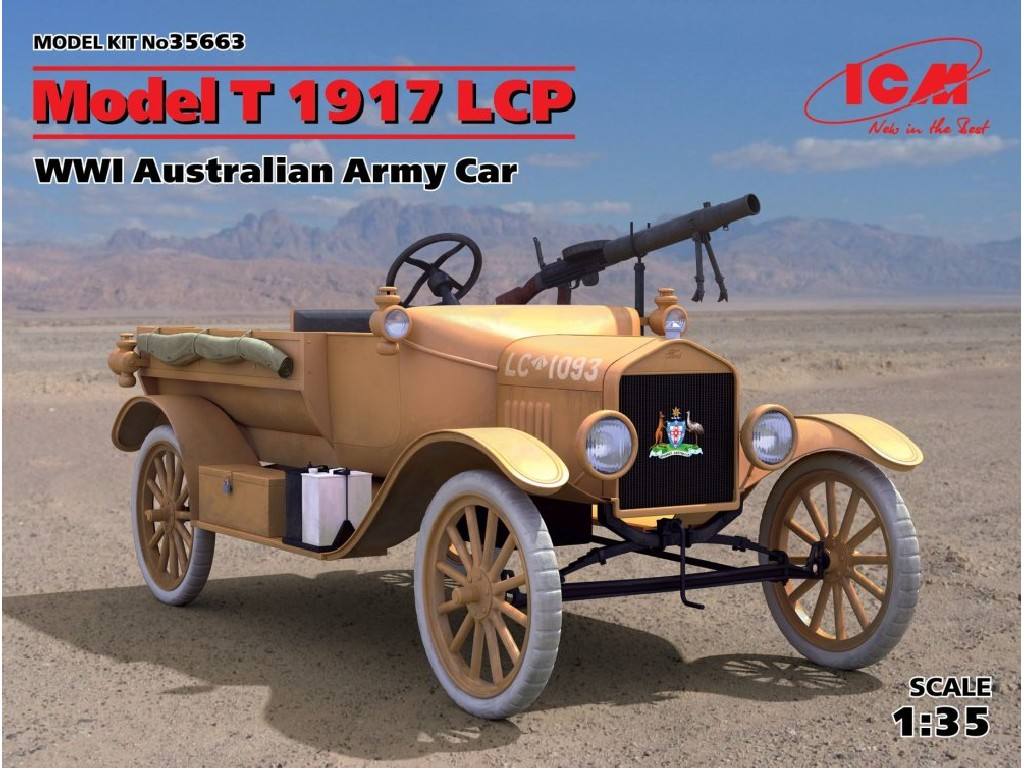 1/35 Model T 1917 LCP, Australian Army Car WWI