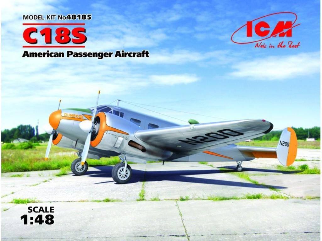 1/48 C18S American Passenger Aircraft (2x camo)